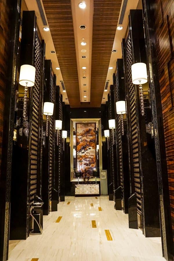 Elevador del hotel foto de archivo libre de regalías