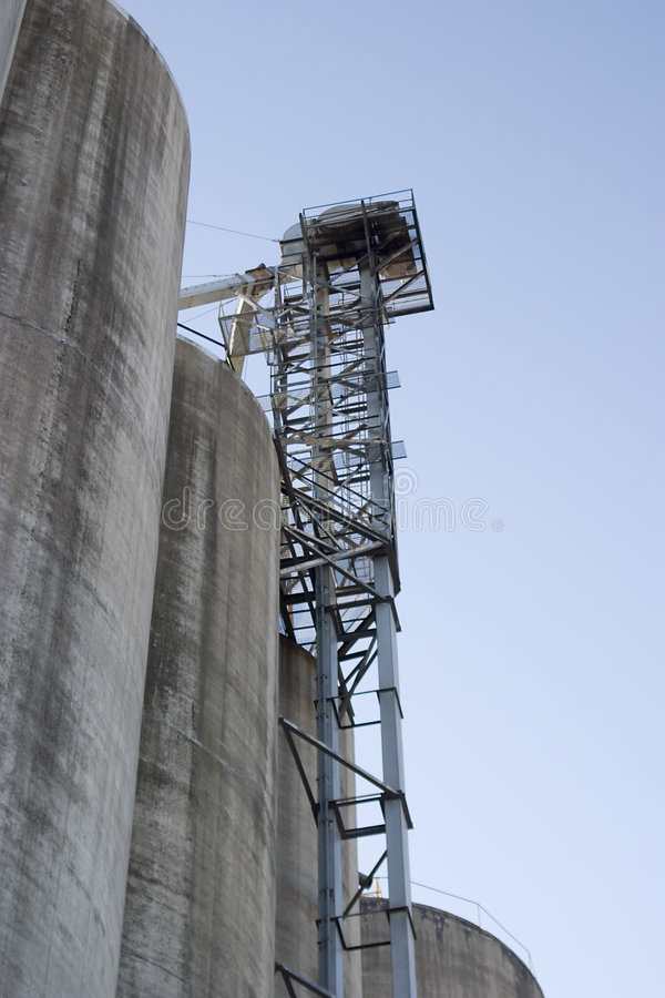 Elevador do elevador de grão foto de stock