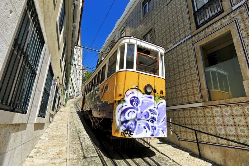 Elevador do Lavra , Lisbon, Portugal. Elevador do Lavra, electrico tram, Lisbon, Portugal stock photography
