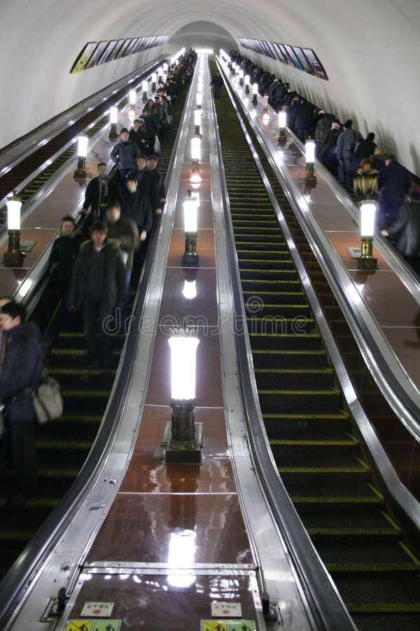 Elevador do metro fotos de stock