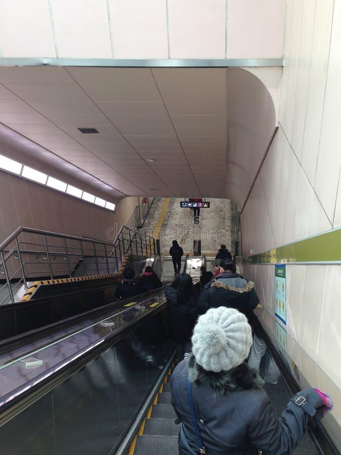 Elevador do metro imagens de stock