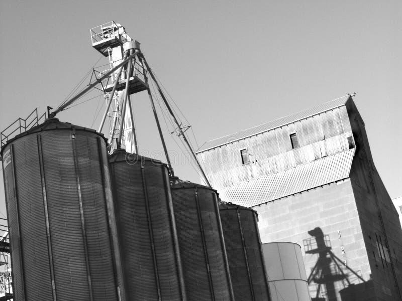 Elevador do trigo fotografia de stock