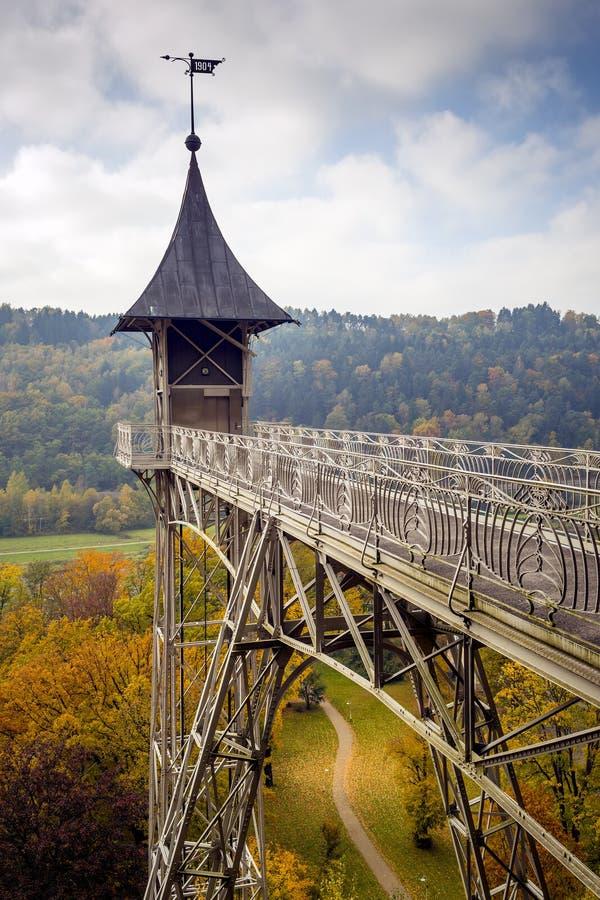 Elevador en Sajonia Suiza fotografía de archivo libre de regalías