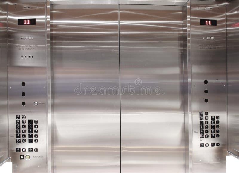 Elevador interno do elevador imagens de stock royalty free
