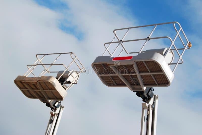 Elevadores da antena dos táxis imagem de stock