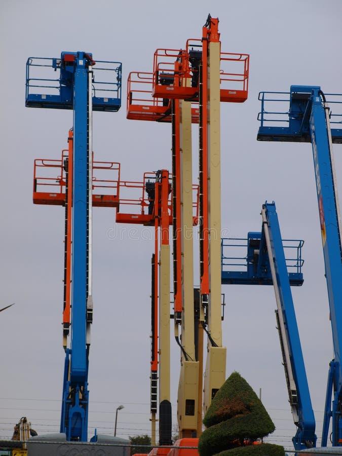 Elevadores de Colordul foto de stock