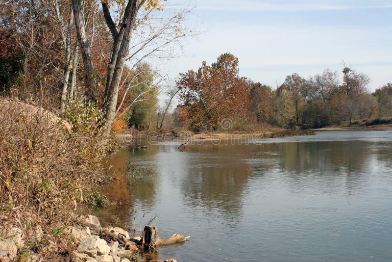 elevan река пункта стоковое изображение rf