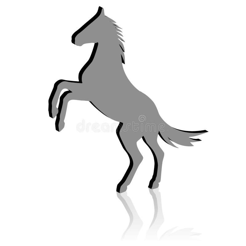 Elevandosi sul cavallo illustrazione di stock