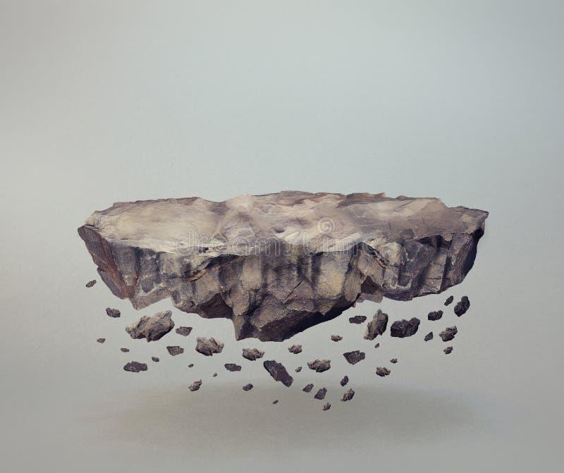 Elevar y mantener flotando rocas libre illustration