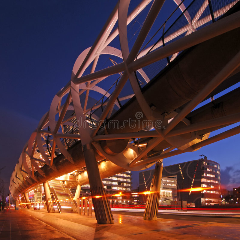 elevated structure tram στοκ εικόνα