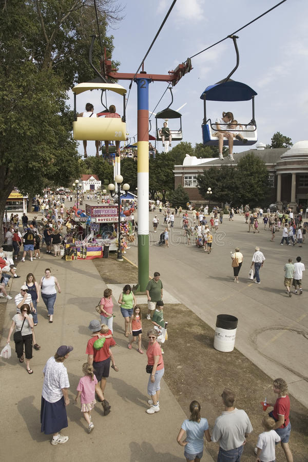 Download Elevated View Of Iowa State Fair, Editorial Stock Image - Image: 27067164