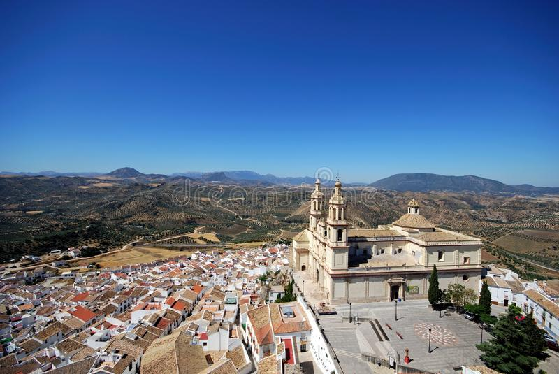 Download Church And Town, Olvera, Andalusia. Stock Image - Image: 29823367