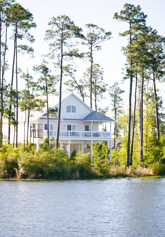 Download Elevated Waterfront Home stock image. Image of beachy - 24083667