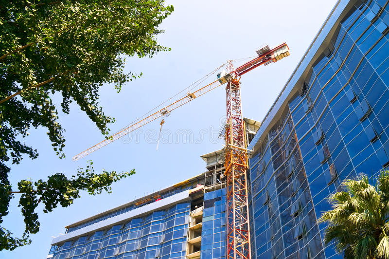 Download Elevating crane stock photo. Image of hotel, region, summer - 33510734