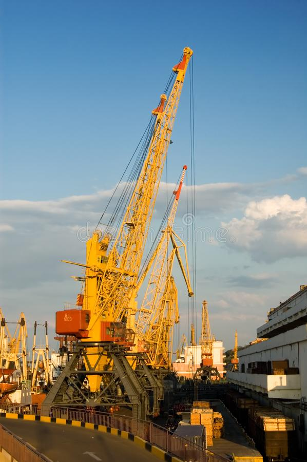 Download Elevating cranes in port stock image. Image of crane, growth - 6822957