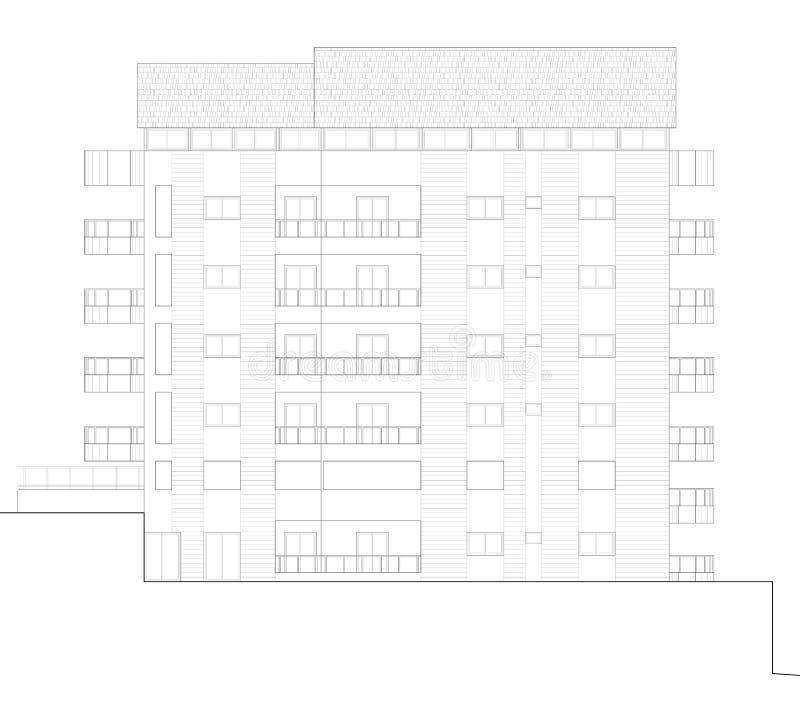 Elevation blueprint stock photos