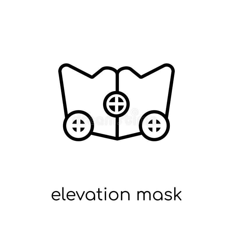 Elevation mask icon. Trendy modern flat linear vector Elevation vector illustration