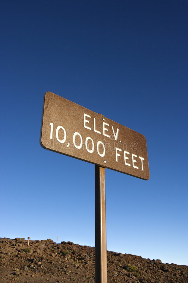 Download Elevation Sign Against Sky. Stock Photo - Image: 2045236