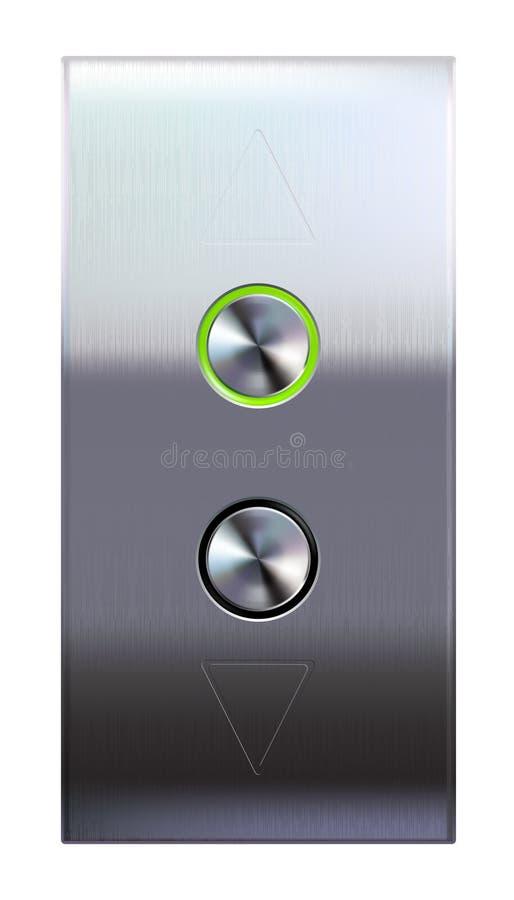 Elevator buttons stock illustration