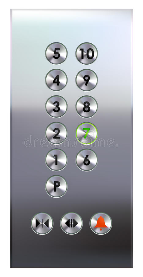 Free Elevator Buttons Panel Stock Photos - 9760493