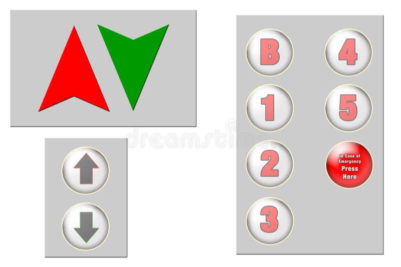 Download Elevator Clip Art stock illustration. Image of arrows, floors - 332457