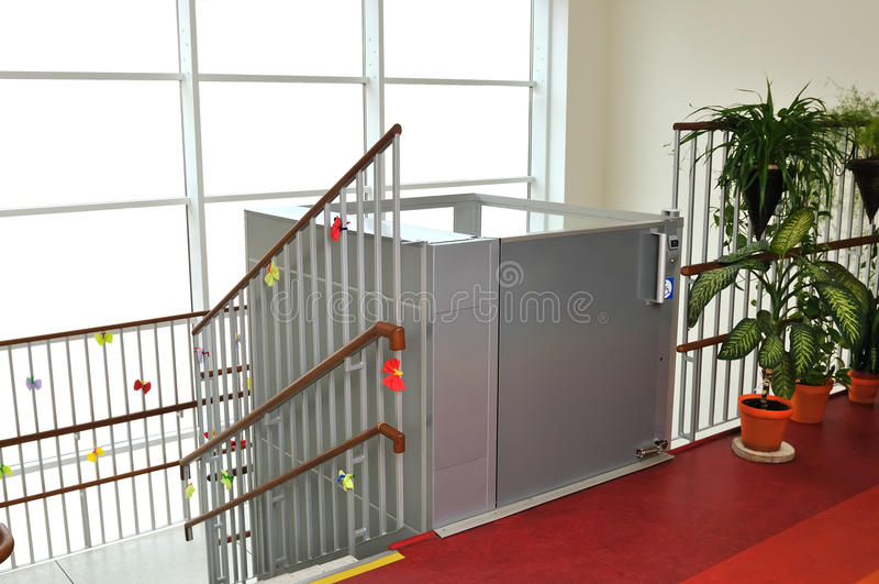 Elevator for disabled people stock photo