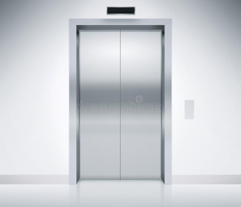 Download Elevator Doors Closed stock illustration. Illustration of black - 54043892 & Elevator Doors Closed stock illustration. Illustration of black ...