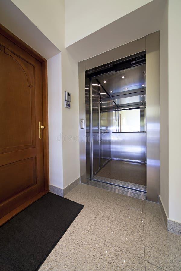 Download Elevator entrance stock photo. Image of wood, designer - 10327876