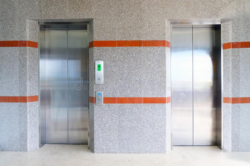 Elevator hall in the building royalty free stock image