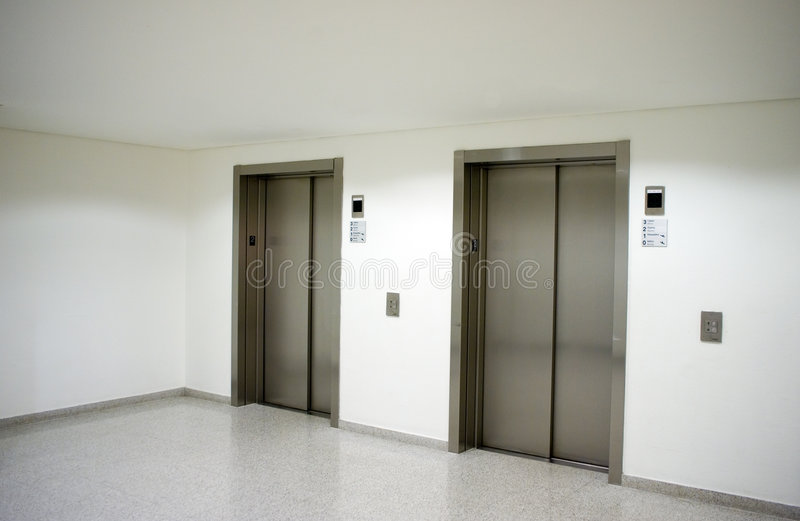 Elevator hall lobby royalty free stock images