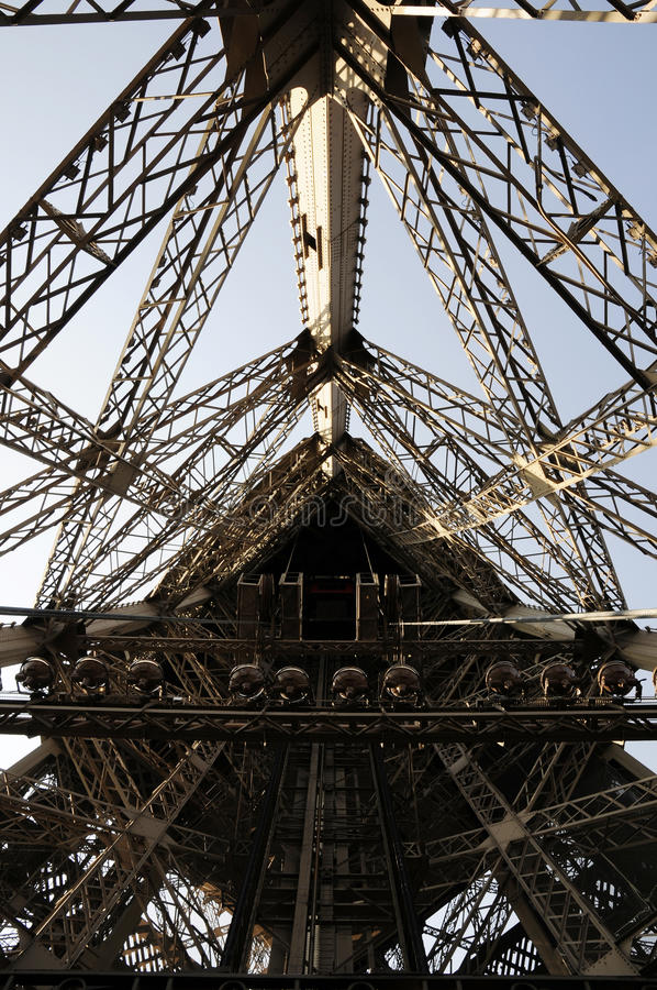 Download Elevator Inside Eiffel Tower Building Stock Image - Image of decoration, sunlight: 11006011