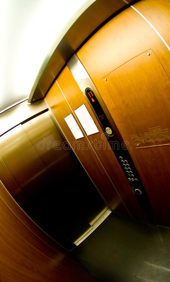 Download Elevator interior stock photo. Image of confined, panel - 14296164