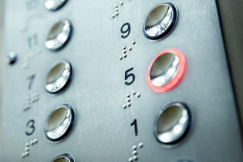 Elevator keypad royalty free stock photo