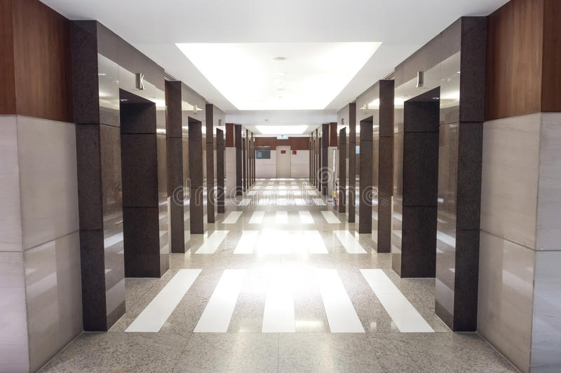 Elevator lobby in perspective royalty free stock photography