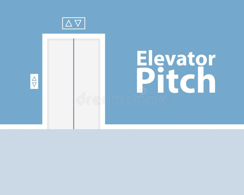 Elevator pitch concept. Vector image royalty free illustration