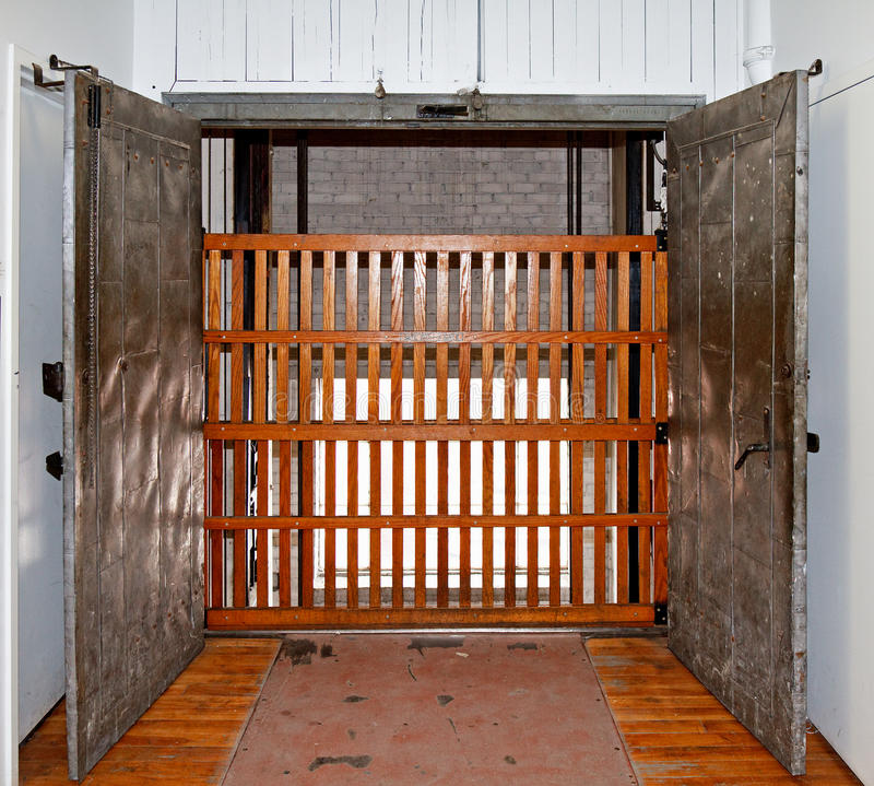 Elevator shaft with gate royalty free stock image