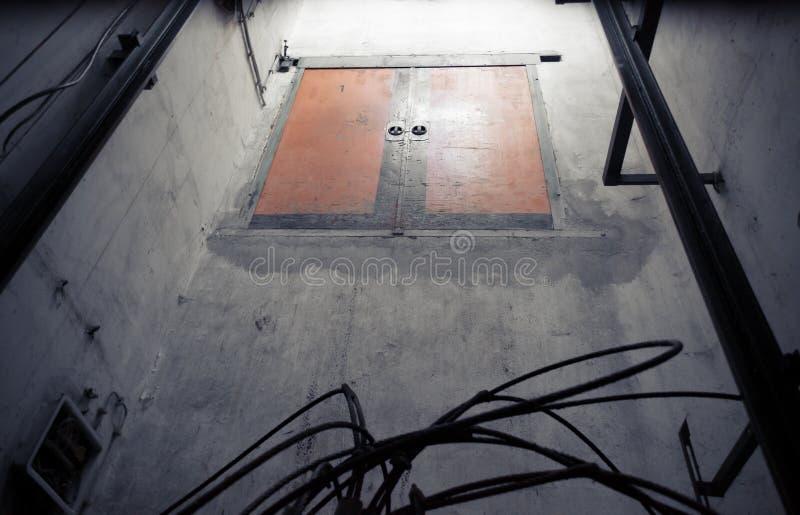 Elevator shaft stock image