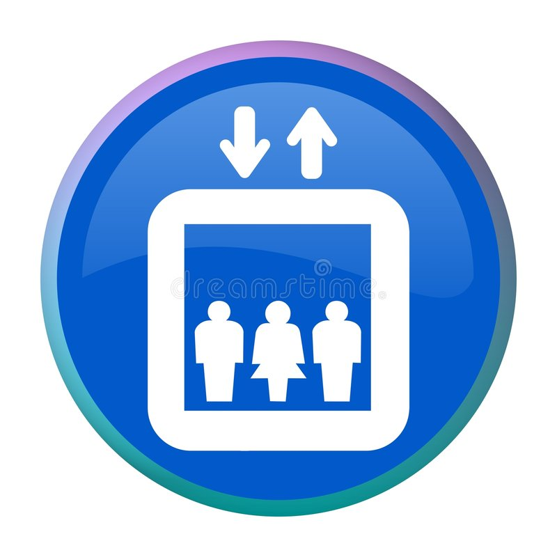 Download Elevator Web Button Royalty Free Stock Images - Image: 8052489
