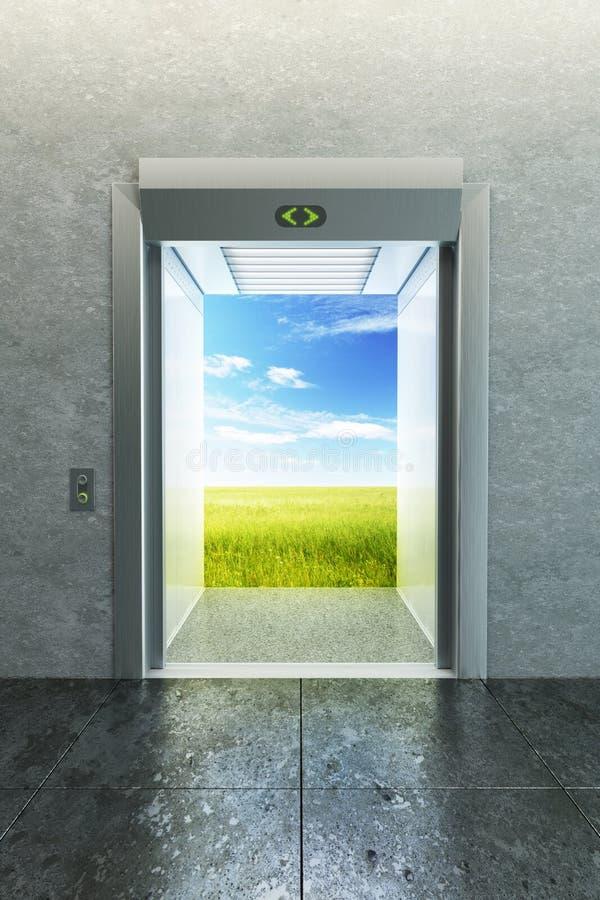 Elevatore aperto a nuova vita royalty illustrazione gratis