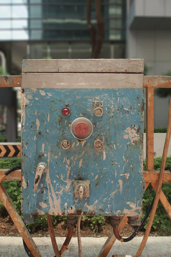 Elevatore dell'impalcatura della costruzione immagine stock libera da diritti