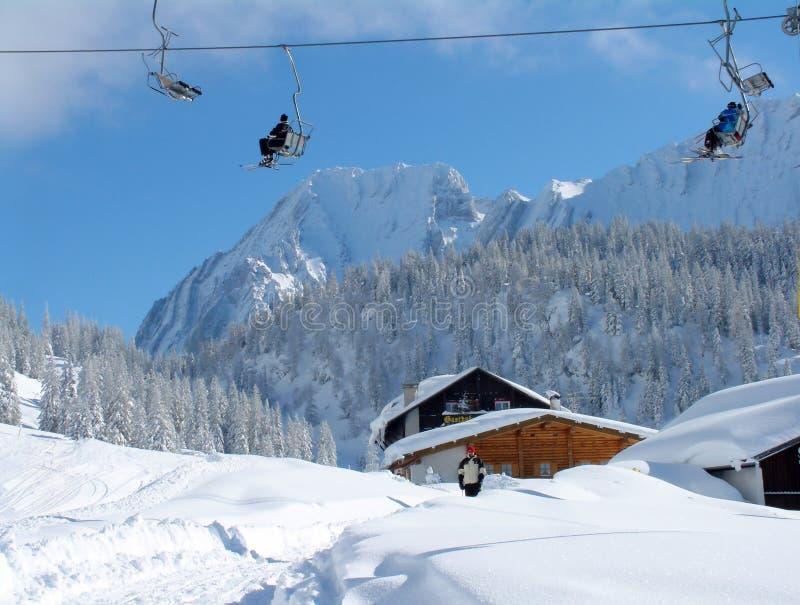 Elevatore Di Pattino Alpino Fotografia Stock Libera da Diritti