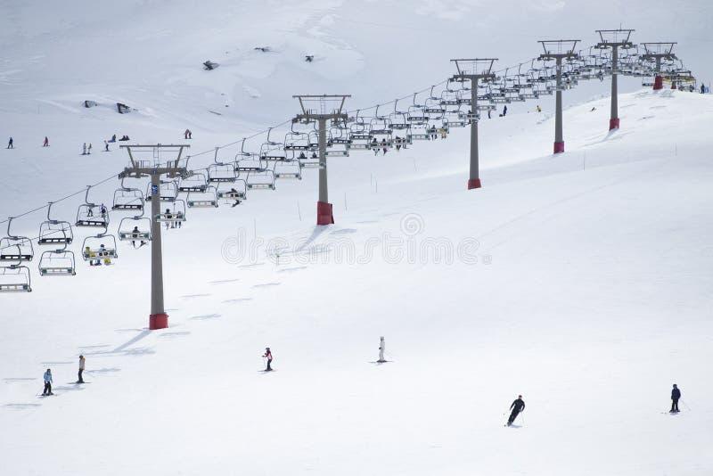 Elevatore di pattino il giorno di inverno luminoso immagine stock libera da diritti