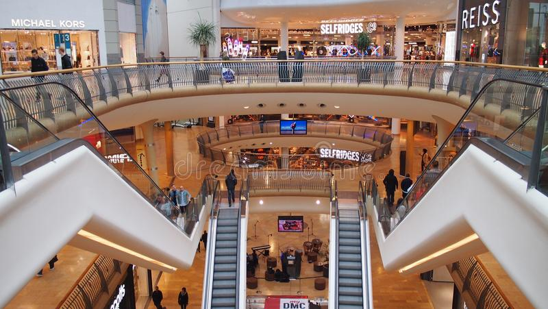 Inside the Bullring Shopping Centre in Birmingham, England stock images