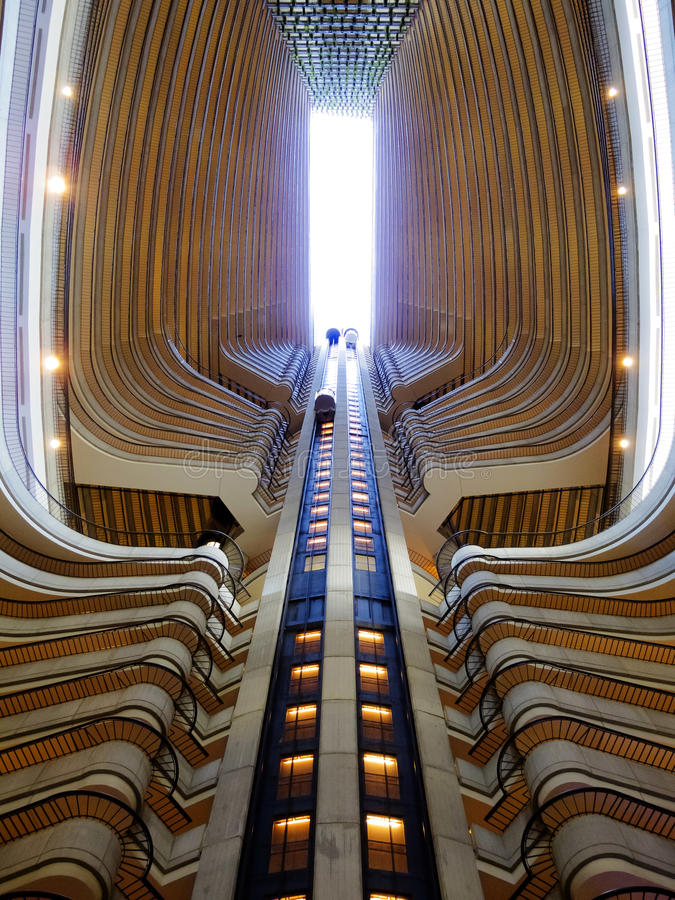 Elevators up and down royalty free stock images