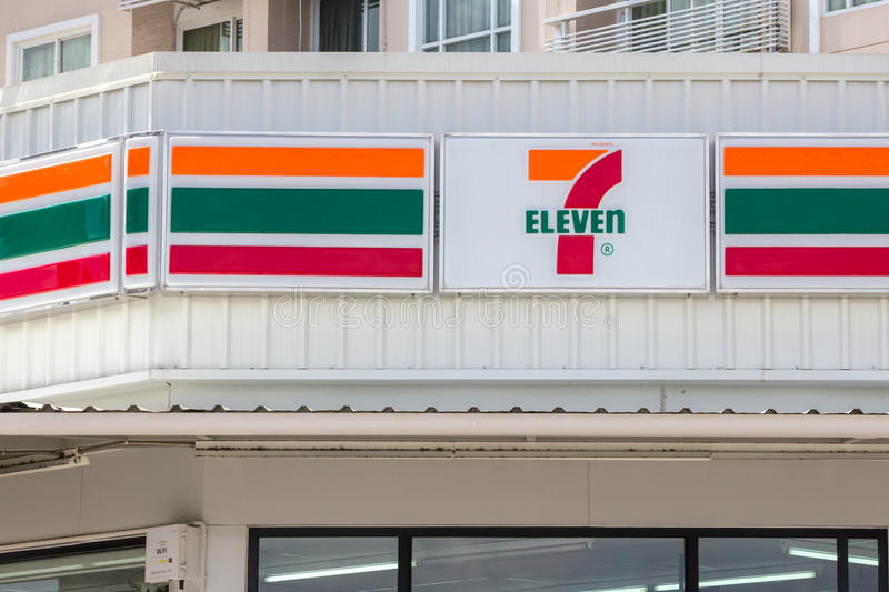 7-Eleven, convenience store. Nakhon Ratchasima, THAILAND - Nov 10, 2015 : 7-Eleven, convenience store with largest number of outlets in Thailand stock photography