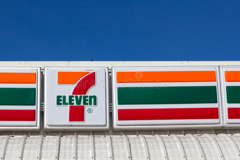 7-Eleven, convenience store. Nakhon Ratchasima, THAILAND - Sep 7, 2015 : 7-Eleven, convenience store with largest number of outlets in Thailand royalty free stock photo