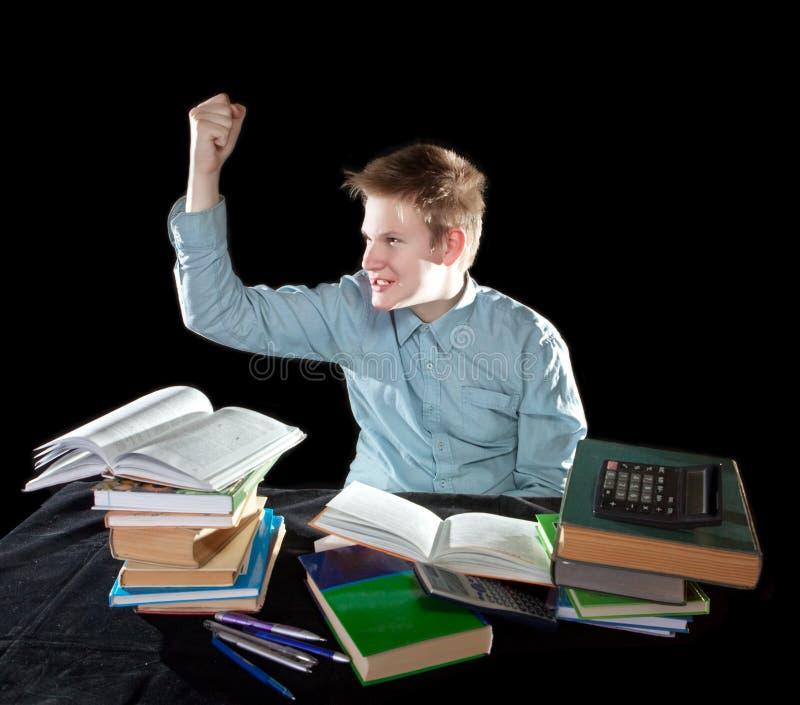 Eleven skakar näven royaltyfri fotografi