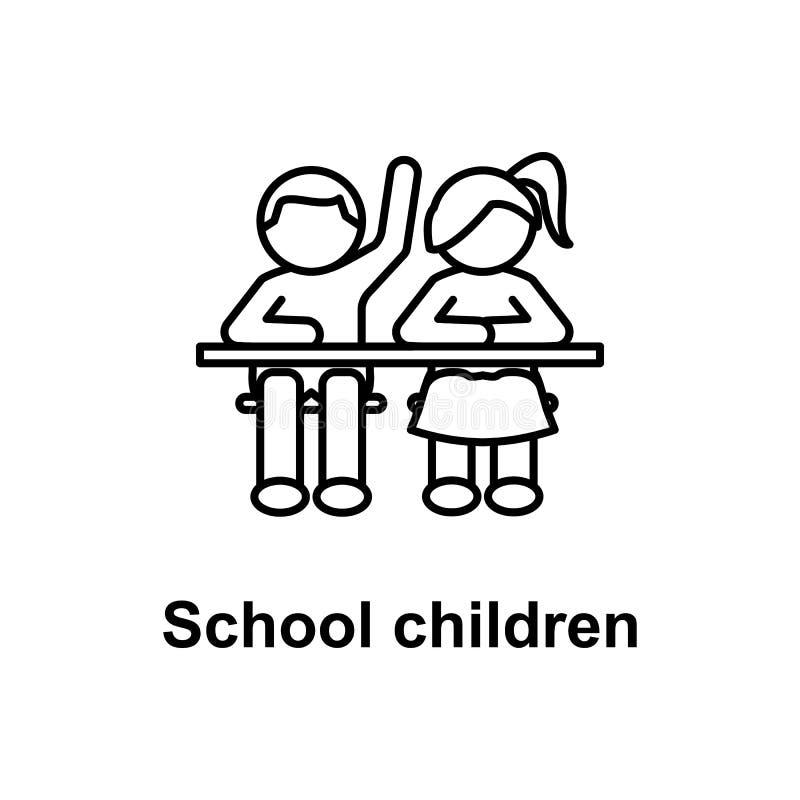 elevsymbol Beståndsdel av skolasymbolen för mobila begrepps- och rengöringsdukapps Tunn linje symbol för websitedesignen och utve vektor illustrationer