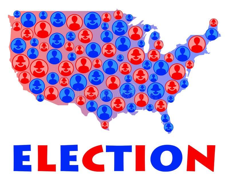 Elezione degli S.U.A. illustrazione di stock