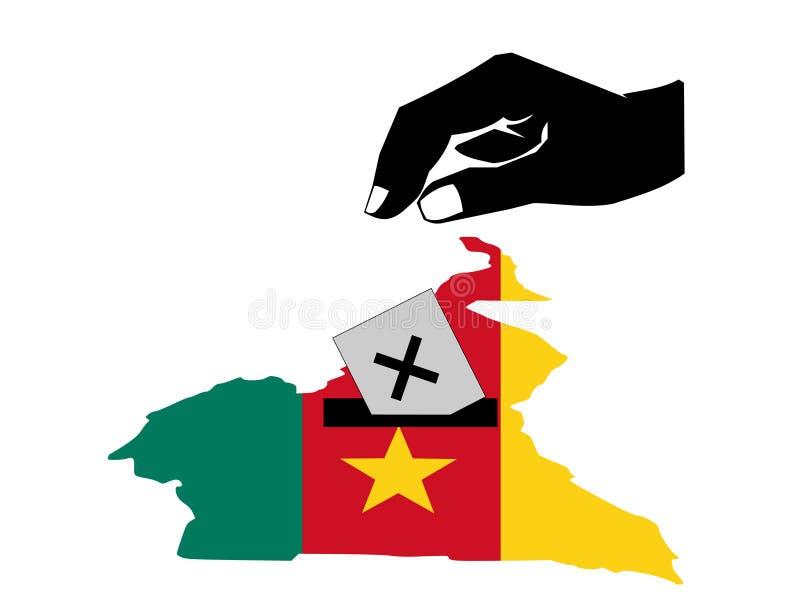 Elezione del Cameroun illustrazione di stock